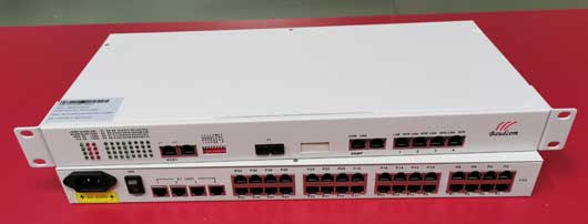 32channel phone over fiber multiplexer