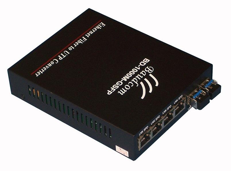 6port Sfp Media Converter 6port Fiber Switch Baudcom
