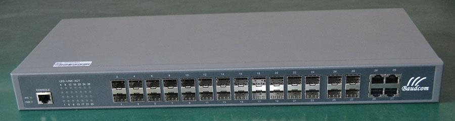 24ports Ge Sfp Managed Gigabit Ethernet Switch Baudcom